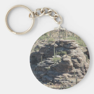 Rocky Outcropping in Tucson Keychain