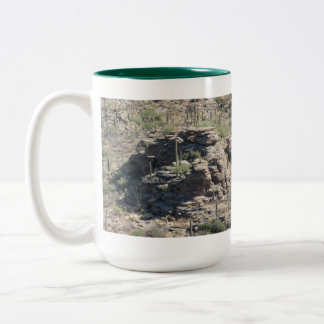 Rocky Outcropping in Tucson Mug