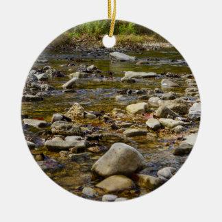 Rocky Path Ceramic Ornament