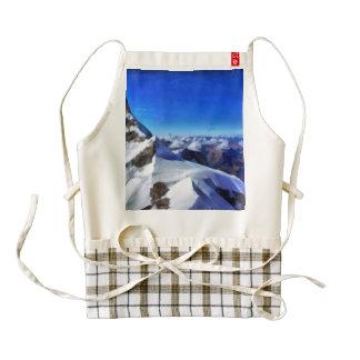 Rocky peaks on the mountainside in the Swiss Alps Zazzle HEART Apron