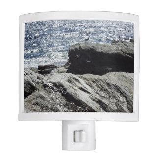 Rocky photos of ocean Rhode Island night light