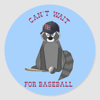 Rocky-Raccoon-Baseball Classic Round Sticker