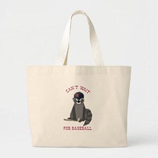 Rocky-Raccoon-Baseball Large Tote Bag