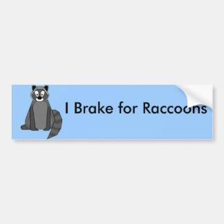 Rocky Raccoon Car Bumper Sticker