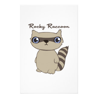 Rocky Raccoon Stationery Design