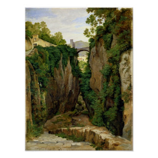 Rocky Ravine at Sorrento, 1823 Poster