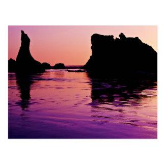 Rocky Reflections - Bandon, Oregon Post Card