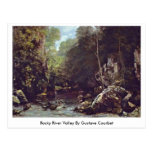 Rocky River Valley By Gustave Courbet Post Cards