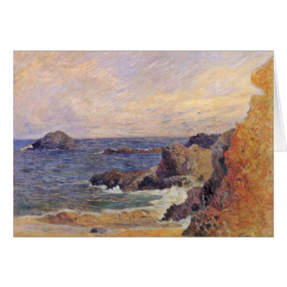 Rocky Sea Coast By Paul Gauguin (Best Quality) Greeting Cards