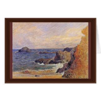 Rocky Sea Coast By Paul Gauguin (Best Quality) Greeting Card