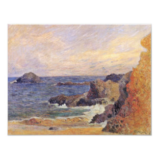 Rocky Sea Coast By Paul Gauguin (Best Quality) Invitation