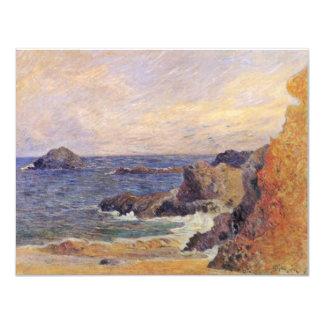 Rocky Sea Coast By Paul Gauguin (Best Quality) Invitation