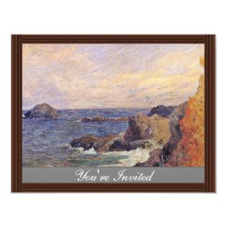 Rocky Sea Coast By Paul Gauguin (Best Quality) Custom Announcements
