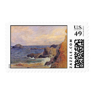 Rocky Sea Coast By Paul Gauguin (Best Quality) Postage Stamps