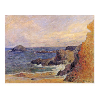 Rocky Sea Coast By Paul Gauguin (Best Quality) Postcards