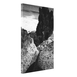 Rocky seascape stretched canvas prints