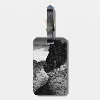 Rocky seascape luggage tag