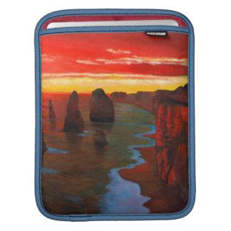 Rocky Seashore At Sunset iPad Sleeves