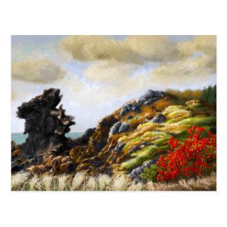 Rocky Seaside Hill Postcard