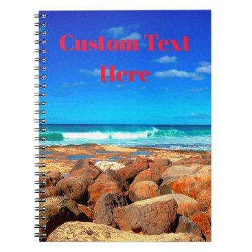 Beach Themed Rocky Seaside Notebook