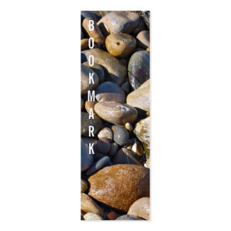 Rocky shore bookmark business card templates