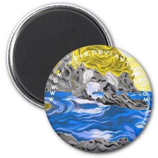 Rocky Shore Fridge Magnet