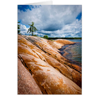 Rocky shore of Georgian Bay Card