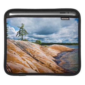 Rocky shore of Georgian Bay iPad Sleeves