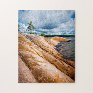 Rocky shore of Georgian Bay Jigsaw Puzzle