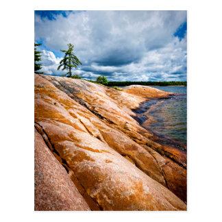 Rocky shore of Georgian Bay Postcard