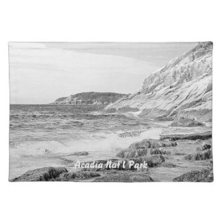 Rocky Shore Sketch American MoJo Placemat Cloth Place Mat