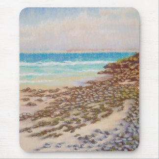 Rocky shore, St. Ives, Cornwall Mouse Pad