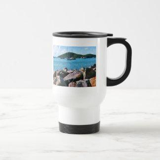 Rocky Shore St. Thomas 15 Oz Stainless Steel Travel Mug