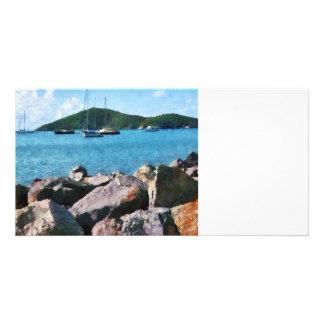 Rocky Shore St. Thomas Photo Card