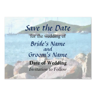 Rocky Shore St. Thomas Save the Date Card