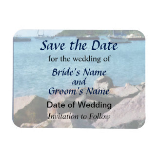 Rocky Shore St Thomas Save the Date Vinyl Magnets