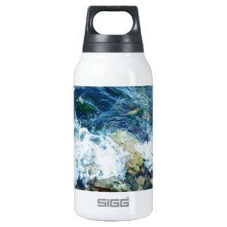 Rocky shoreline insulated water bottle