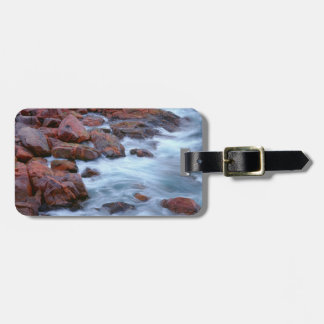 Rocky shoreline with water, Canada Bag Tag