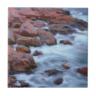 Rocky shoreline with water, Canada Ceramic Tile