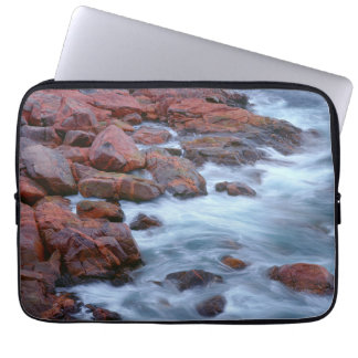 Rocky shoreline with water, Canada Computer Sleeve