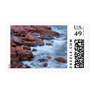 Rocky shoreline with water, Canada Postage