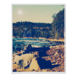 Rocky Shores of Lake Superior Poster