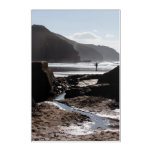 Rocky silhouettes at Perranporth Acrylic Print
