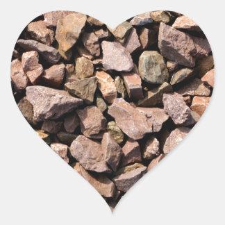 Rocky Stones Heart Sticker