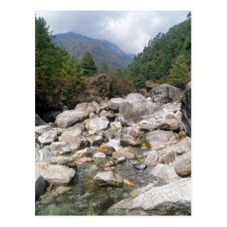 Rocky Stream in Mountain Forest Landscape, Nepal Postcard
