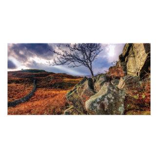 Rocky summer landscape card