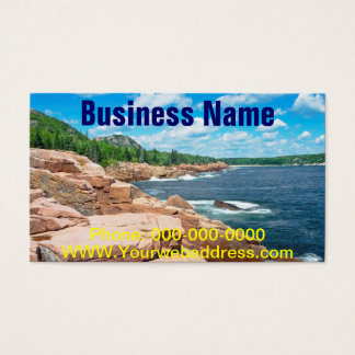 Rocky Summer Seascape Acadia National Park Maine Business Card