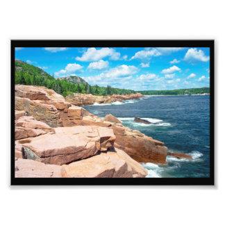 Rocky Summer Seascape Acadia National Park Maine Photo Print