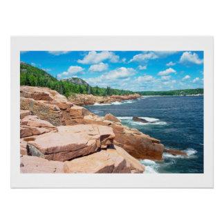 Rocky Summer Seascape Acadia National Park Maine Poster