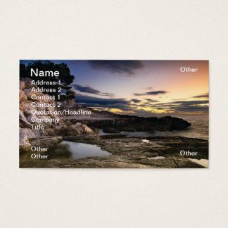 Rocky sunset business card